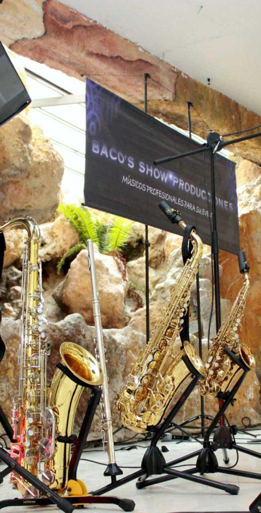 Saxofonista en Bogotá set de saxofones